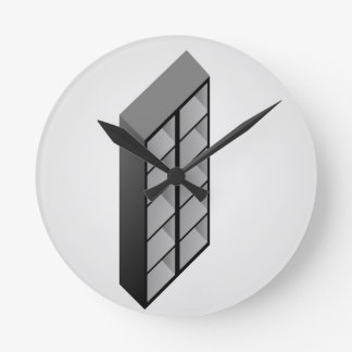 Simple wooden bookshelf design clock