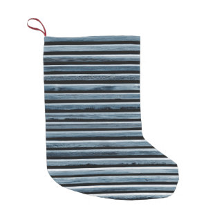 Simple Wooden Stripes Small Christmas Stocking