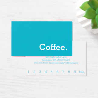 Simple Word Bright Loyalty Coffee Punch-Card Business Card