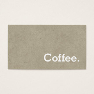 Simple Word Dark Loyalty Coffee PunchCard Bone Business Card