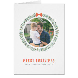 Simple Wreath Holiday Greeting Card