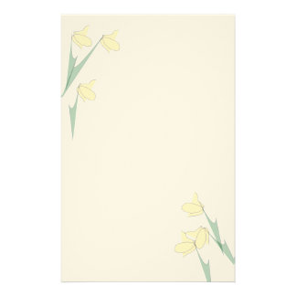 Simple Yellow Flowers Stationery Paper