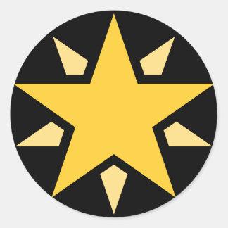 Simple Yellow Star Classic Round Sticker