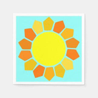 Simple Yellow Sun Paper Napkin
