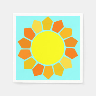 Simple Yellow Sun Paper Napkins