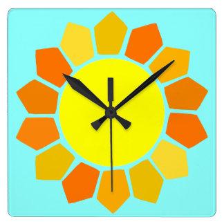 Simple Yellow Sun Wallclock