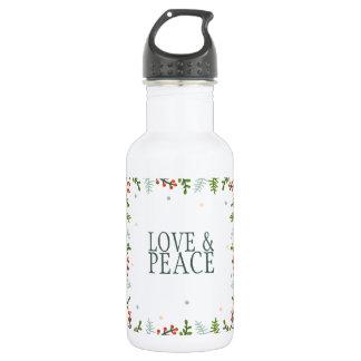 Simple yet Elegant Christmas Wreath Water Bottle