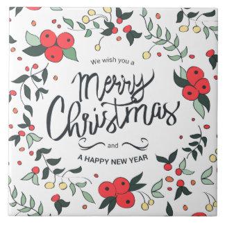Simple yet Elegant Floral Christmas Ceramic Tiles
