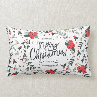Simple yet Elegant Floral Christmas | Throw Pillow