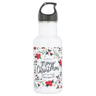 Simple yet Elegant Floral Christmas | Water Bottle