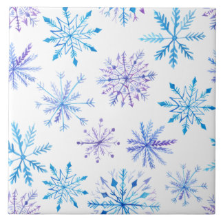 Simple yet Elegant Snowflakes | Ceramic Tiles