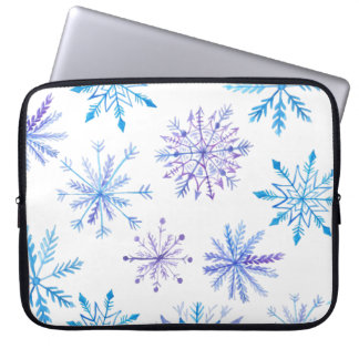 Simple yet Elegant Snowflakes | Laptop Sleeve