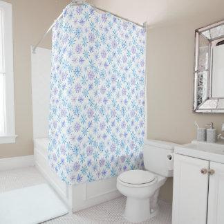 Simple yet Elegant Snowflakes | Shower Curtain