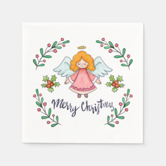 Simple yet Lovely Christmas Angel | Napkin Paper Napkin