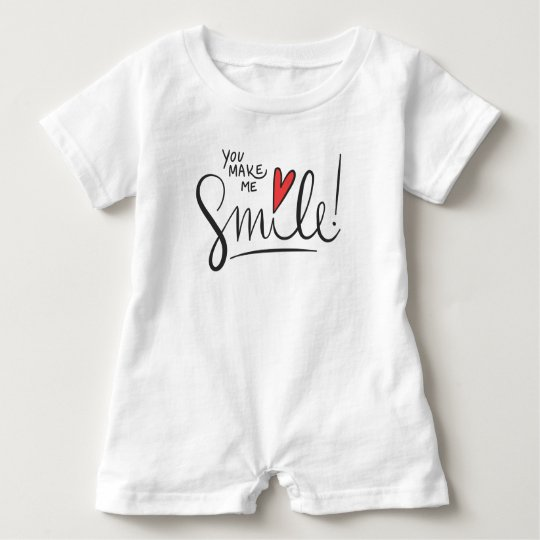 Simple yet Pretty You Make Me Smile | Baby Romper