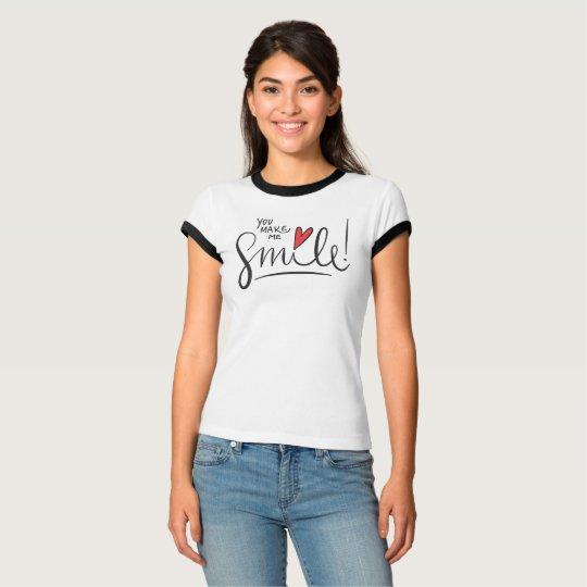Simple yet Pretty You Make Me Smile | Ringer Shirt