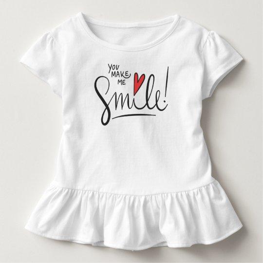 Simple yet Pretty You Make Me Smile | Ruffle Tee