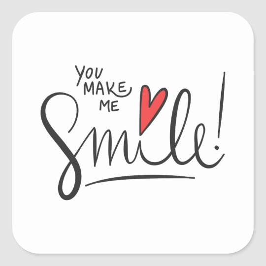 Simple yet Pretty You Make Me Smile Sticker Seal