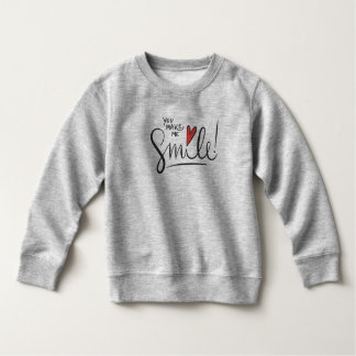 Simple yet Pretty You Make Me Smile | Sweatshirt