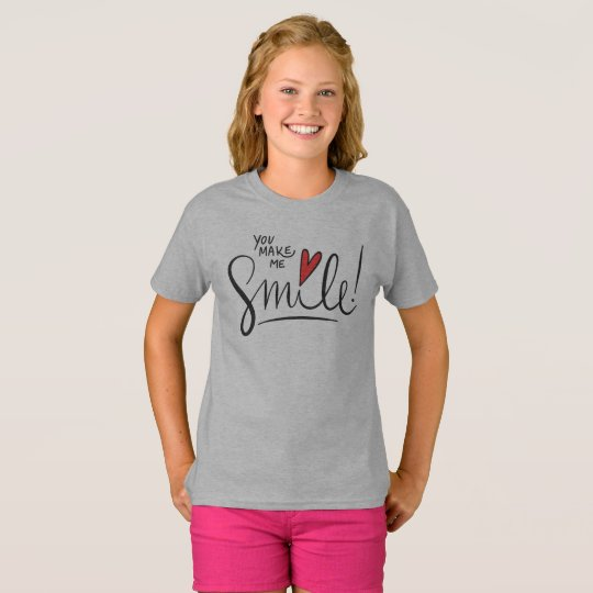 Simple yet Pretty You Make Me Smile Tagless Shirt