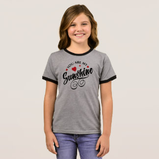 Simple You Are My Sunshine Valentine Ringer Shirt