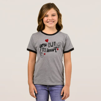 Simple You Own My Heart Valentine | Ringer Shirt