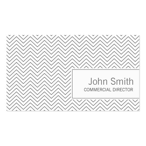 Simple Zigzag Commercial Director Business Card