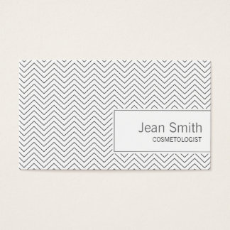 Simple Zigzag Cosmetologist Business Card