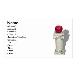 SimpleAppleColumn061210Shadows, Name, Address 1... Pack Of Standard Business Cards