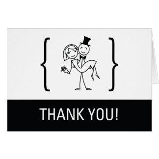 Simplement carte de remerciements de mariage