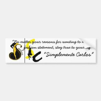 Simplemente Carlos BumperSticker Bumper Sticker