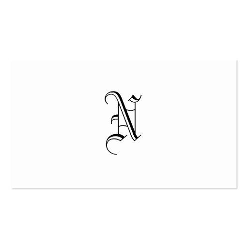 Simples Monogram Grunge Business Cards