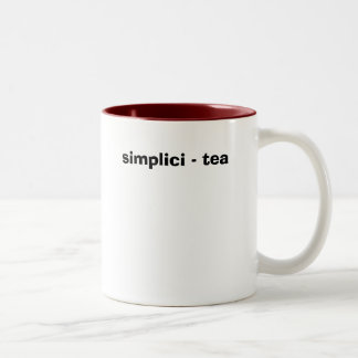 simplici - tea Two-Tone coffee mug