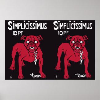 Simplicissimus Thomas Theodor Heine Poster