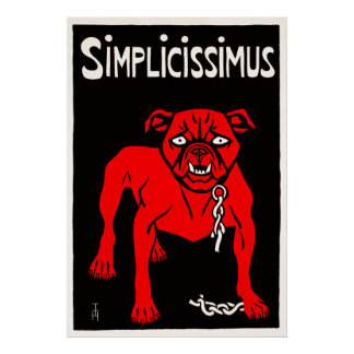 Simplicissimus - Vintage Dog Cartoon Poster