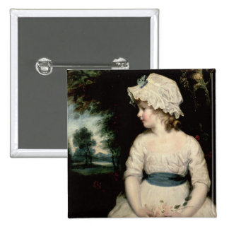 Simplicity - A Portrait of Miss Theophilia Ghatkin 2 Inch Square Button