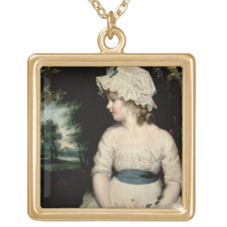 Simplicity - A Portrait of Miss Theophilia Ghatkin Gold Plated Necklace