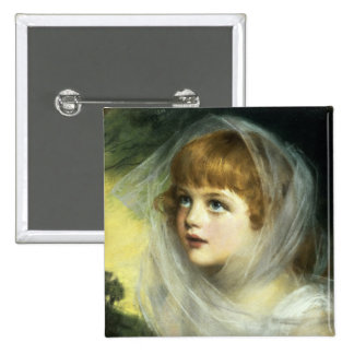 Simplicity and Innocence, 1900 2 Inch Square Button
