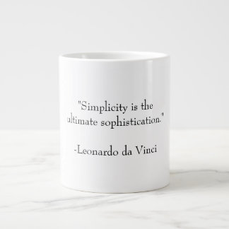 Simplicity and Sophistication Large Coffee Mug