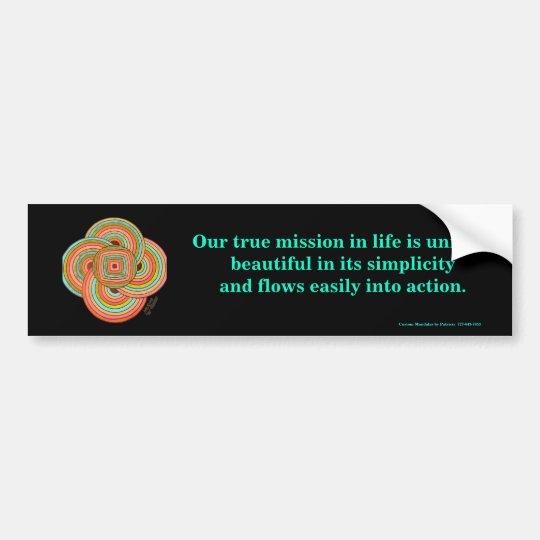 """Simplicity"" Bumper Sticker"