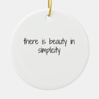 Simplicity Ceramic Ornament