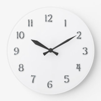 "Simplicity-""Faux Pewter"" Numerals Large Clock"