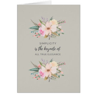 Simplicity Greeting Card