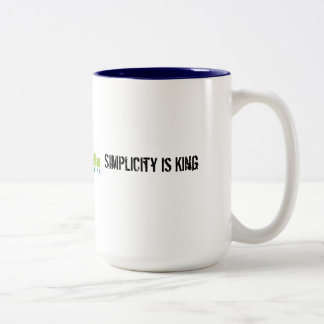 Simplicity is King Two-Tone Coffee Mug