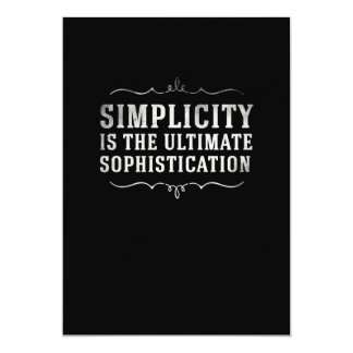 Simplicity Is The Ultimate Sophistication Card