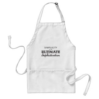 Simplicity is the Ultimate Sophistication Standard Apron