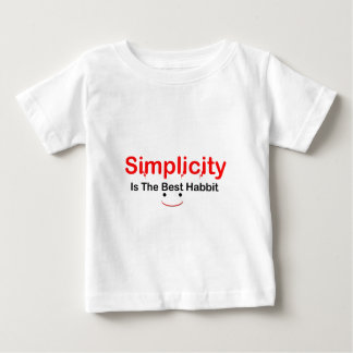 simplicity-is-the-_-(white).png baby T-Shirt