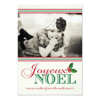 "Simplicity ""Joyeux Noel"" Holiday Photo Card 5"" X 7"" Invitation Card"