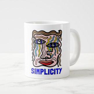 """Simplicity"" Jumbo Mug"