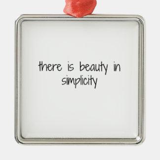 Simplicity Metal Ornament